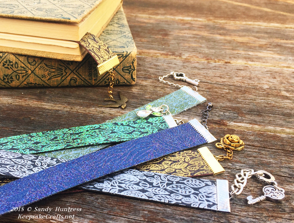 Falling Leaves Embossed Bookmarks - Create Along Box Project