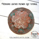 How to create a faux leather patina look with polymer clay