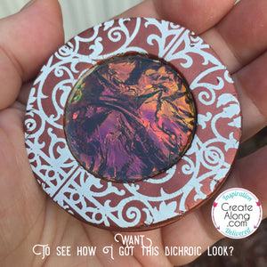 Polymer Clay Fun with Film Holographic Dichroic Look with Ease