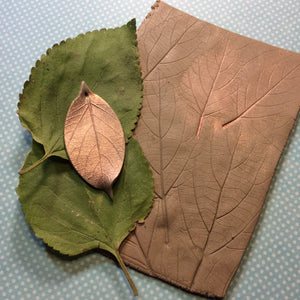How to create a nature inspired leaves texture sheet with polymer clay