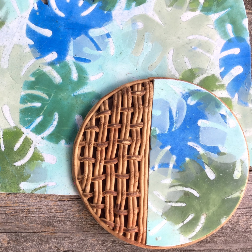 How to Create a Cool Toned Tropical Leaves Polymer Clay Veneer