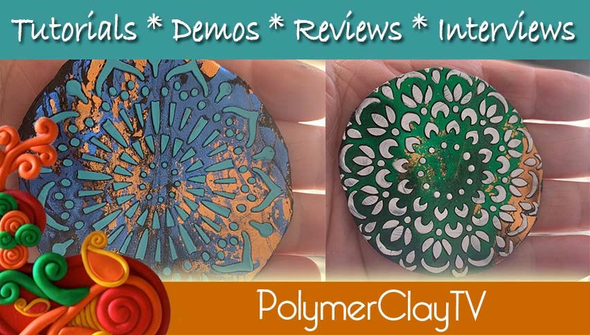 Polymer Clay Foiled Mandala Tutorial