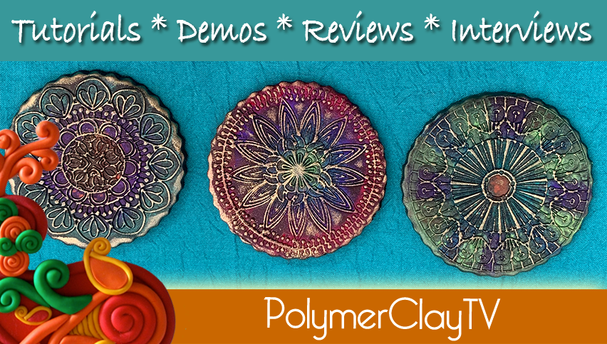 How to Make a Polymer Clay Boho Textured Mandala
