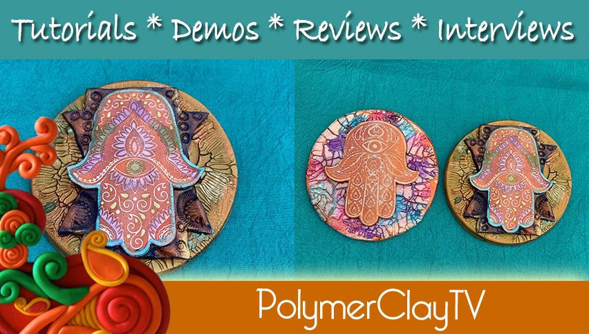 Polymer Clay Crackle Ink and Metallics Veneer