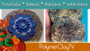 How to Add Crackle and Shimmer to Polymer Clay for Faux Raku look!