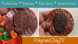 Polymer Clay Halloween Sugar Skull Veneer Tutorial