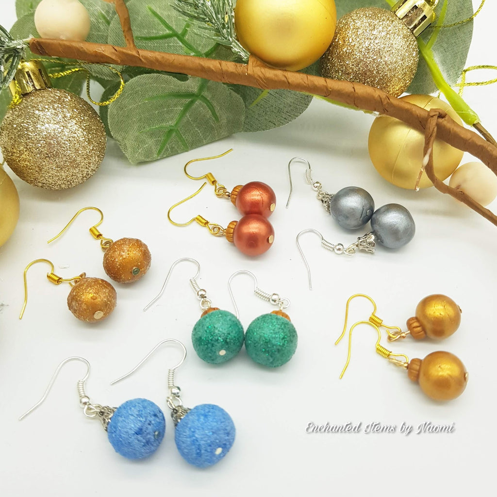 Deck the Halls - and your Ears with these Adorable Polymer Clay Christmas Ornament Earrings