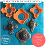 How to create DIY polymer clay cabochon textured pendants with Byzantine Cross cookie cutters