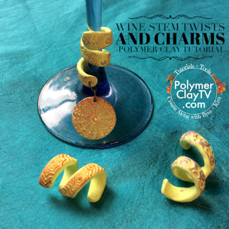 How to make wine glass twists and charms using polymer clay