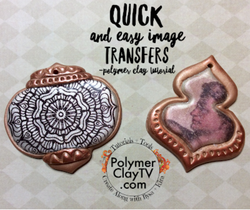 How to use Magic Transfer Paper to create images on your raw polymer clay tutorial
