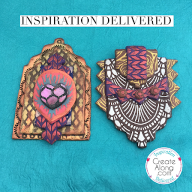 Polymer Clay Shrine Inspiration and Embossed design