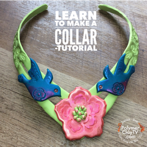 How to make a collar necklace with polymer clay and a metal quick collar form