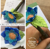 Create a Translucent Cane with ink and make a flower pen with polymer clay