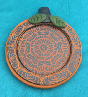 Halloween & Fall Polymer Clay Pumpkin Ornament