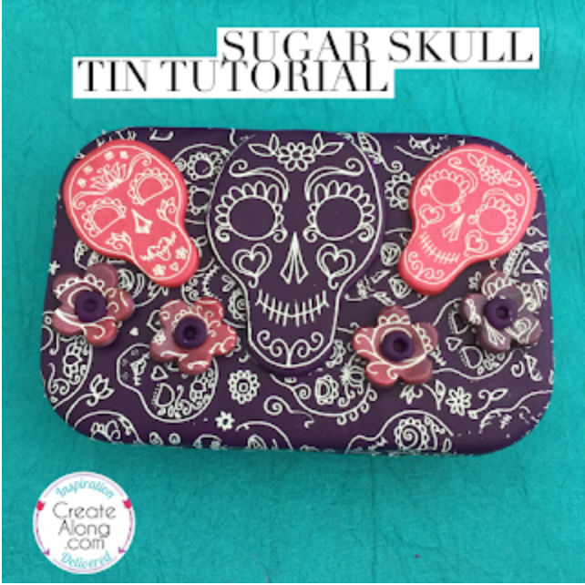 Creating a Polymer Clay Sugar Skull Tin Tutorial