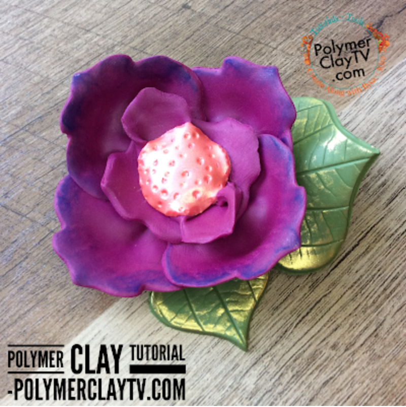 Learn to use your polymer clay tools in new ways. Create a flower brooch without a flower cutter!