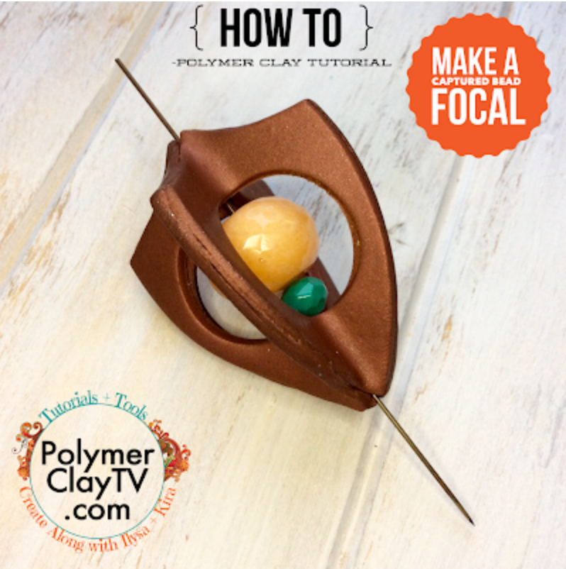 Making a more creative bead shape- imagination plus engineering equals polymer clay fun tutorials!
