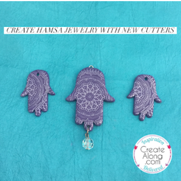 Create Hamsa Polymer Clay Jewelry with New Cutters