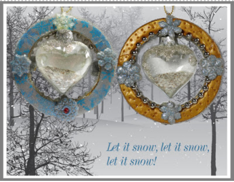 The Heart of Winter Ornament  with the CreateAlongBox