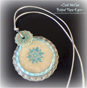 Frosted Snowflakes Pendant polymer clay createalongbox project