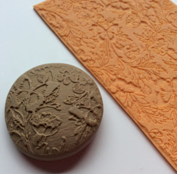 How to create ink and powder veneers using silicone texture sheets and polymer clay