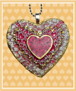 Sugar Heart Pendant with polymer clay and the Create Along Box
