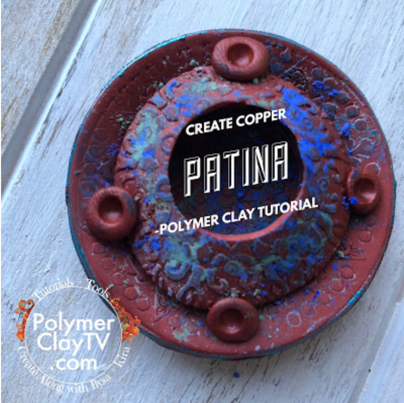How to create a copper patina with polymer clay and matte pigment powders