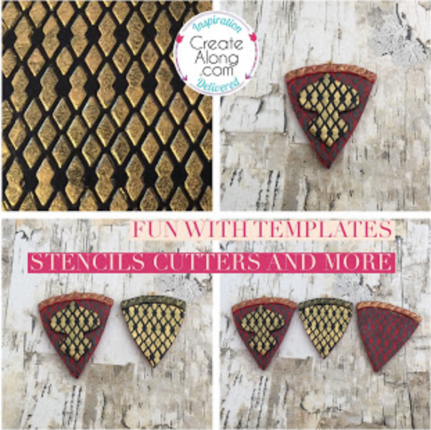 How to use templates stencils and cutters for a snakeskin look