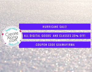 Hurricane Sale! 20% off ALL digital courses, PDFS, and Workshops!