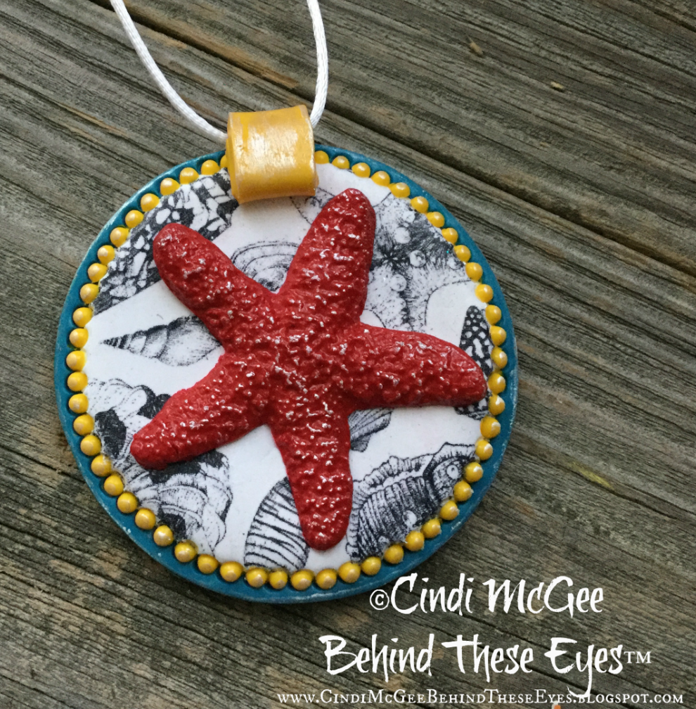Ocean Themed Polymer Clay Pendants - By the Sea Create Along Box