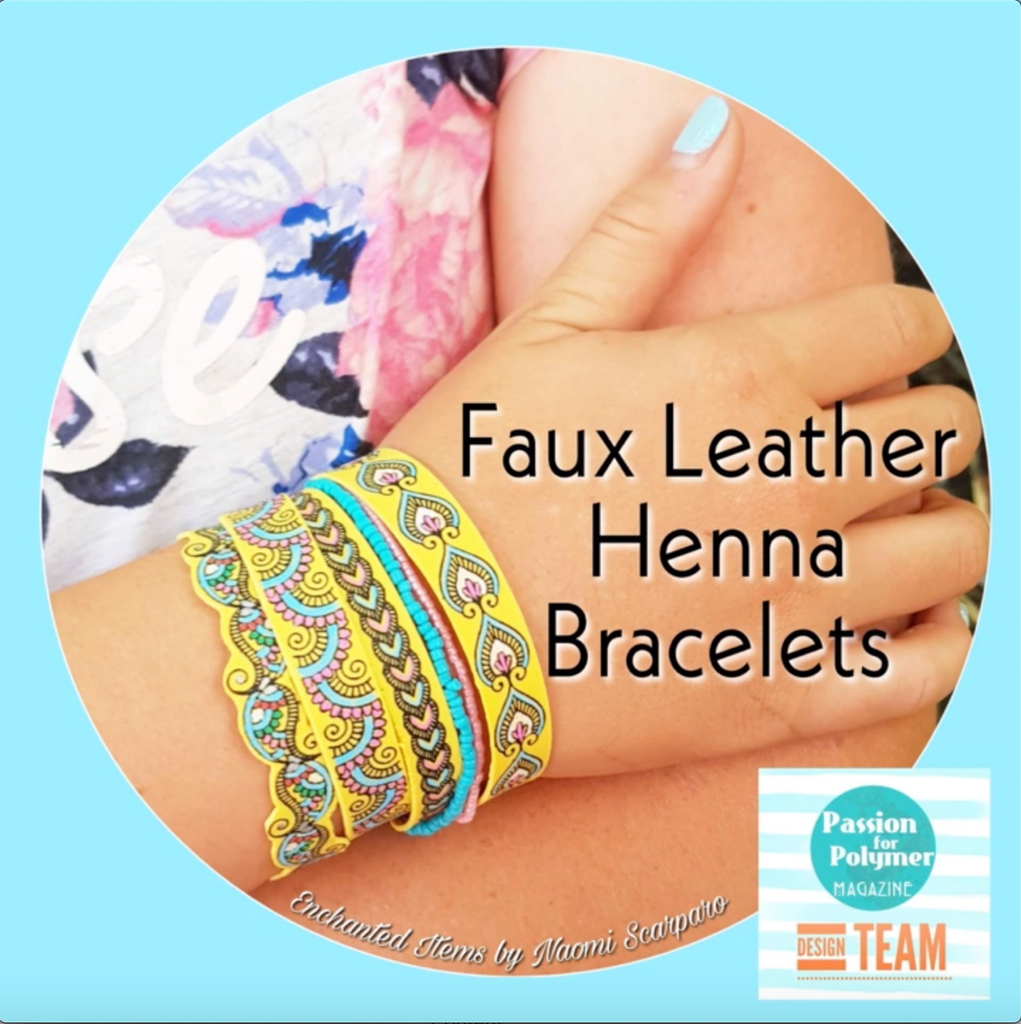 Faux Leather Henna Bracelets Tutorial