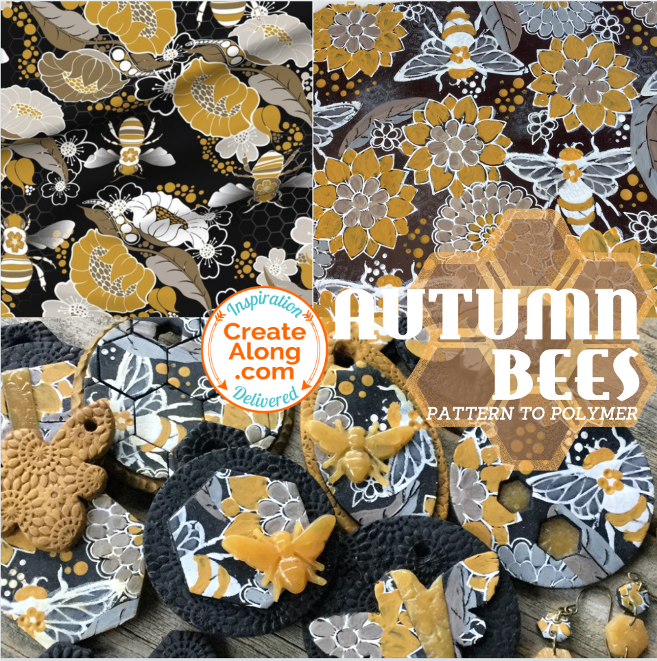 Learn new ways to enhance silkscreens!  Make an Autumn Bees Slab!