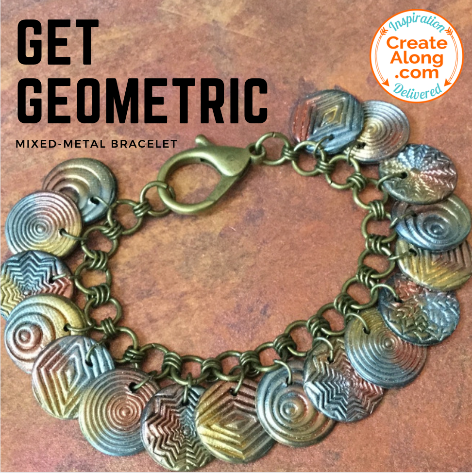 Make a Mixed-Metal Effect Geometric Bracelet