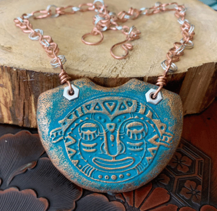 Make a Tribal Relic Polymer Clay Statement Necklace