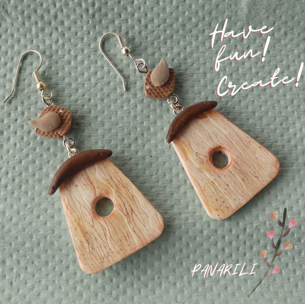 Learn How to Create Adorable Polymer Clay Birdhouse Earrings