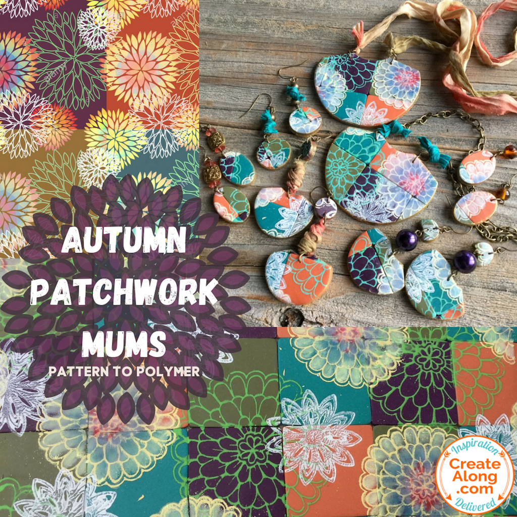 Learn to Create Autumn Patchwork Mums Jewelry