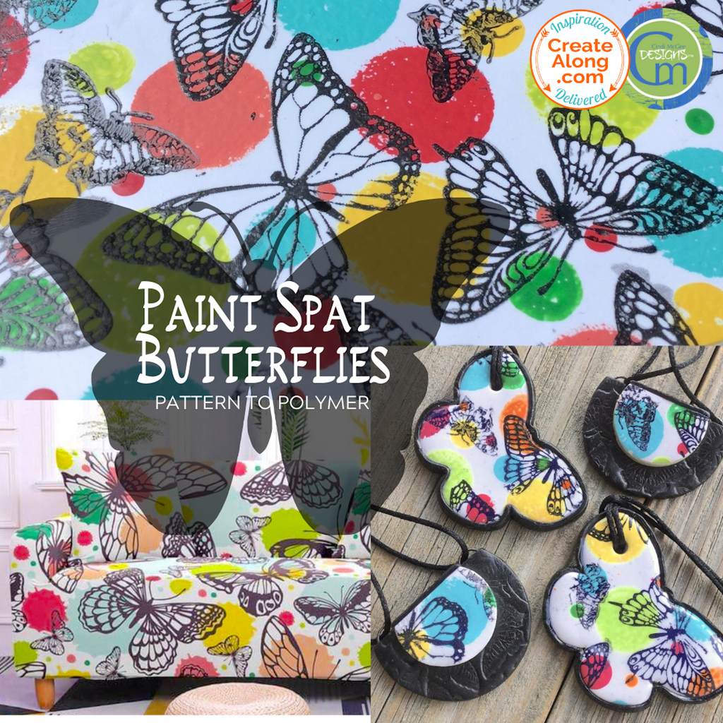 How to make a Butterfly Slab out of Polymer Clay. Quick and easy Tutorial!