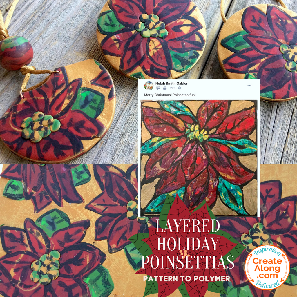 You Can Make Poinsettia Polymer Clay Jewelry