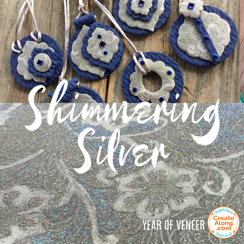 How to Make a Shimmering Silver Polymer Clay Veneer