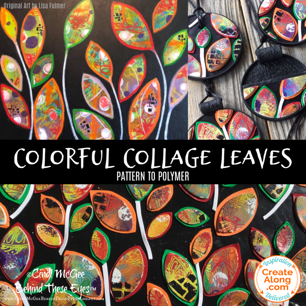 "Make a Bright & Colorful ""Collage Leaves"" Polymer Clay Veneer for Jewelry and More"