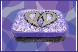 Paisley Purple Altoid Tin - Create Along Box