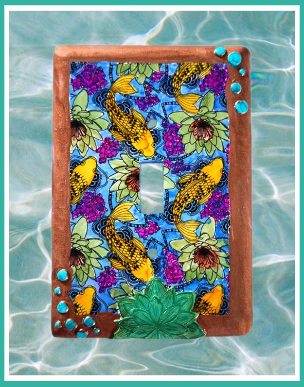 Koi Switchplate Cover - Japanese Influence Create Along Box