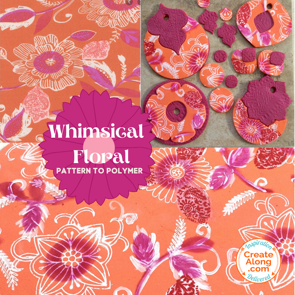 Get Whimsical!  Learn new ways to use your stencils and make this bright, whimsical floral slab!