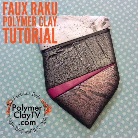 faux raku polymer clay tutorial