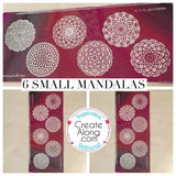 Silkscreen 6 Small Mandalas Great For Polymer Clay - Polymer Clay TV tutorial and supplies