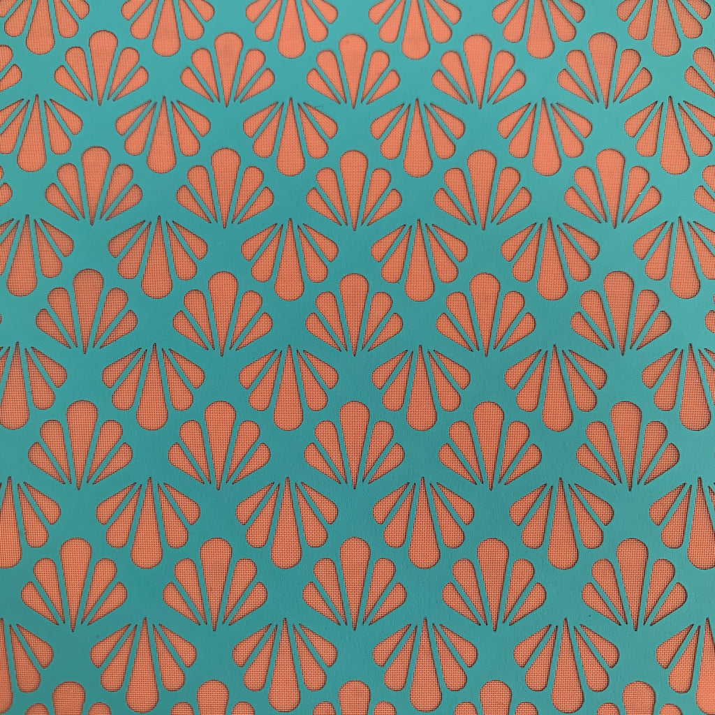Silk Screen Firecracker Art Deco fans Stencil For Polymer Clay jewelry mixed media