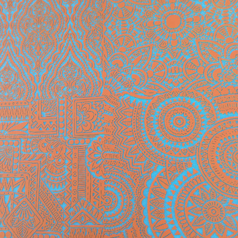 Silkscreen Stencil Trip to India Multi Image for Polymer Clay and Mixed Media - Polymer Clay TV tutorial and supplies
