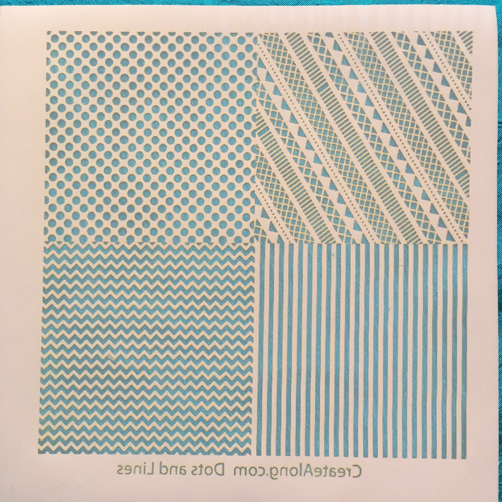 Silkscreen Stencil Dots and Lines Patterns Multi Image for Polymer Clay and Mixed Media - Polymer Clay TV tutorial and supplies