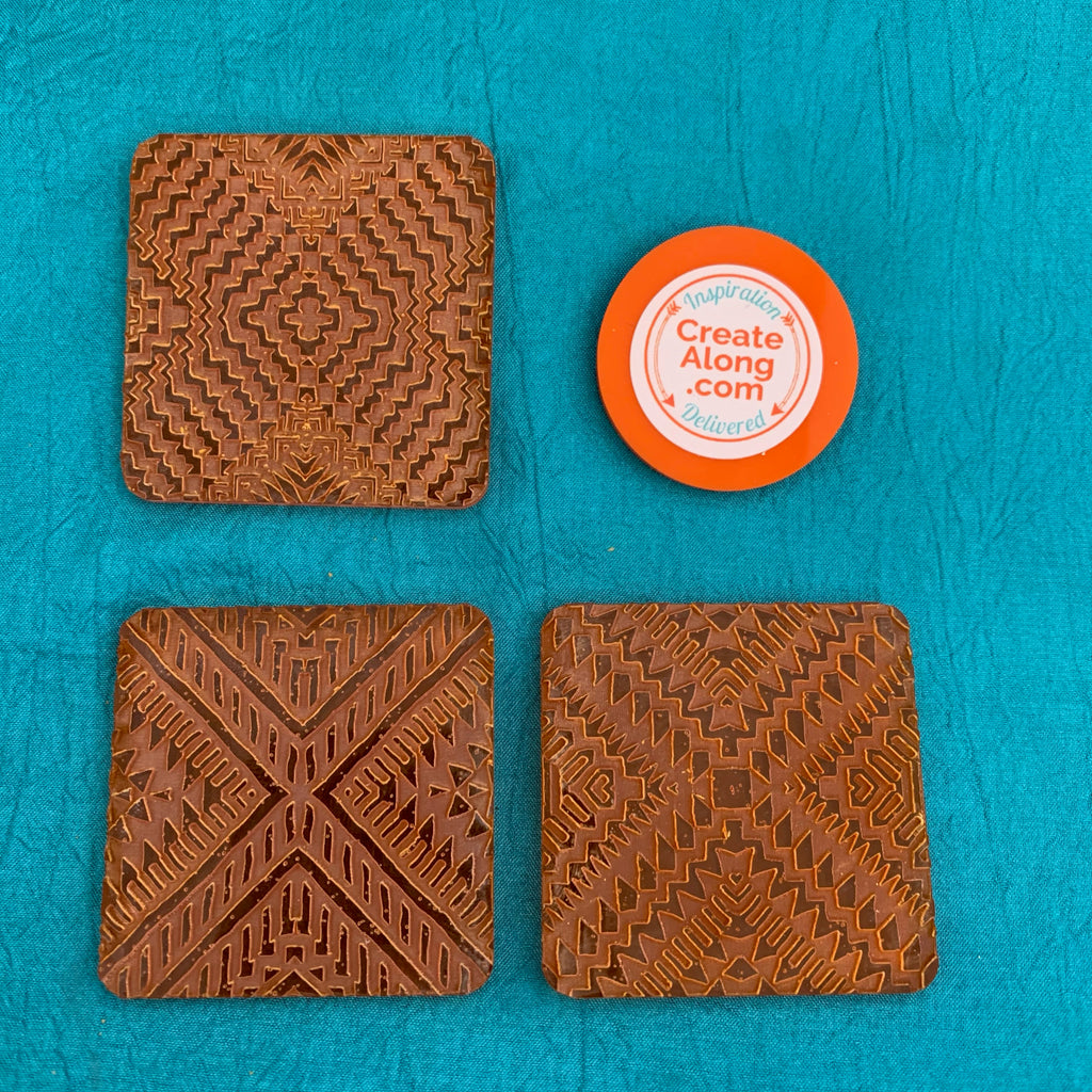 Deco Disc Tribal X Tiles Stamp and Texture Pattern Designs for polymer clay