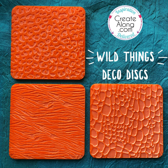 Deco Disc Wild Things stamps texture and stamp animal print designs in polymer clay, for art jewelry, mixed-media and more - Polymer Clay TV tutorial and supplies